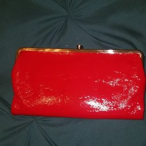 Red HOBO wallet/clutch